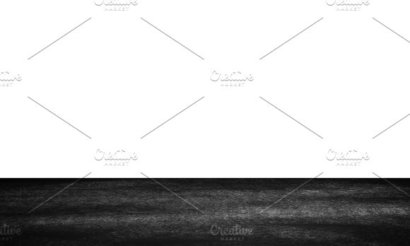 Dark Grunge Black Floor With Copy Space For Text