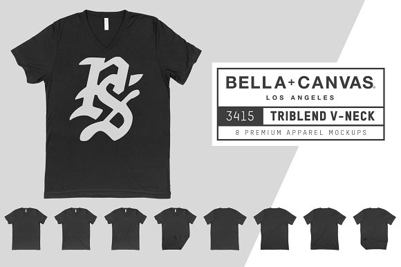 Bella Canvas 3415 Triblend V-Neck