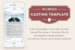 Stock Photography Casting Template