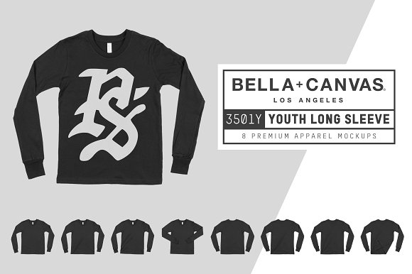 Bella Canvas 3501Y Youth LS T-Shirt