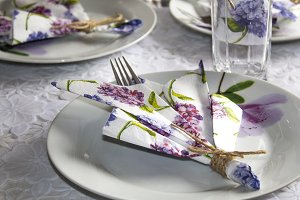 Festive table setting.
