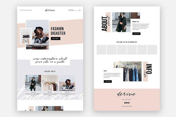 Squarespace template derive website templates creative market wajeb Gallery