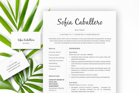 Server Resume CV Cover Letter.