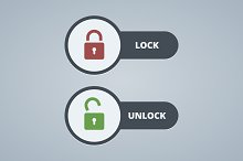 Lock and unlock illustration