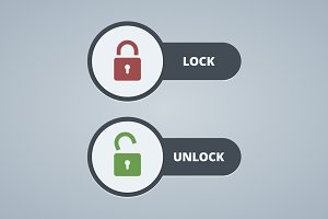 Lock and unlock illustration