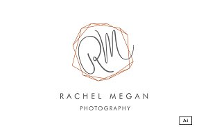 Geometric Monogram Logo Template