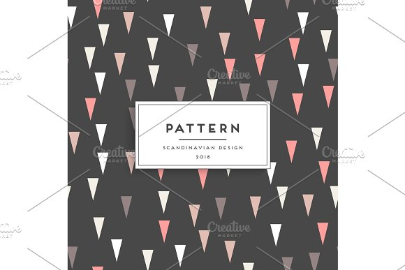 Scandinavian floral seamless pattern in Textures