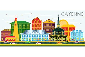 Cayenne City Skyline