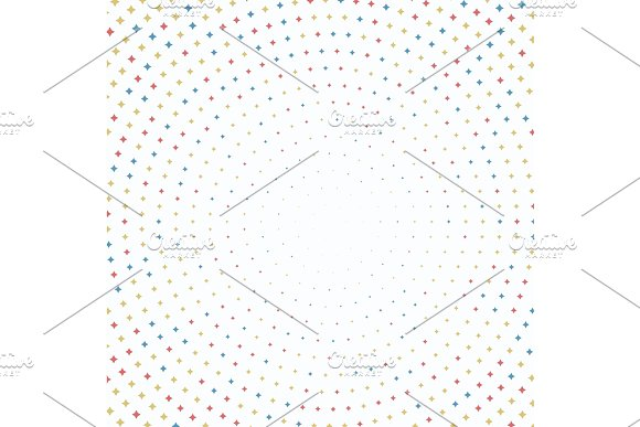 Modern Vector Pattern With Stars