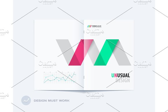 Abstract Brochure Design Modern Annual Report Centerfold Cover Flyer In A4 With Colourful Arrows
