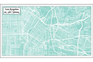 Los Angeles California USA City Map