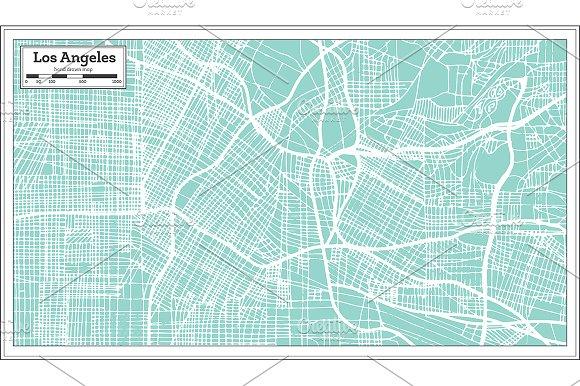 Los Angeles California USA City Map
