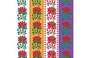 Czech folk pattern