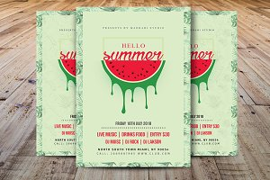 Hello Summer Party Flyer