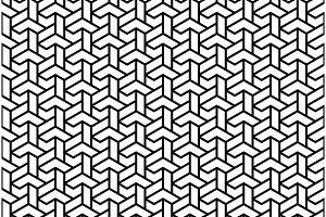 Seamless Vector Abstract Pattern With Black Lines