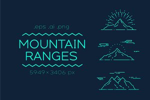 Set of linear mountains ranges