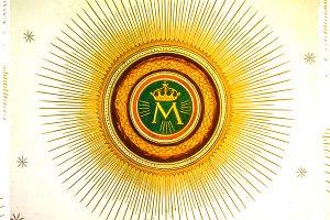 Monogram of Virgin MAry