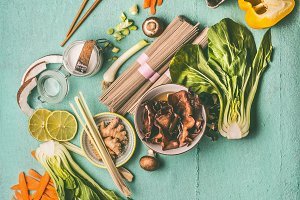 Vegetarian asian food ingredients