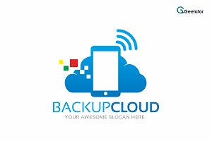 Backup Cloud Logo Template