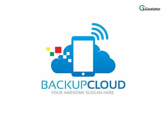 Backup Cloud Logo Template