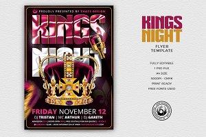 Kings Night Flyer Template