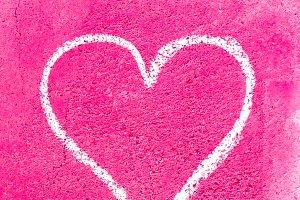 Grunge heart for Valentine's Day