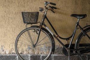 Vintage black bicycle