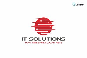 IT Solutions Logo Template