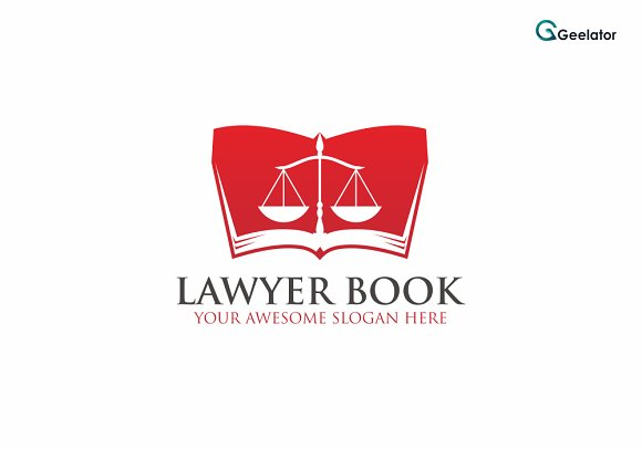 Lawyer Book Logo Template