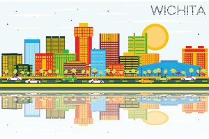 Wichita Kansas USA City Skyline