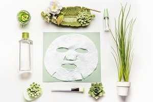 Modern facial skin care setting