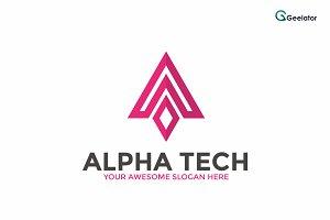Alpha Tech Logo Template