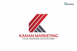 Kanan Marketing - Letter K Logo