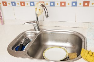 sink with dishes