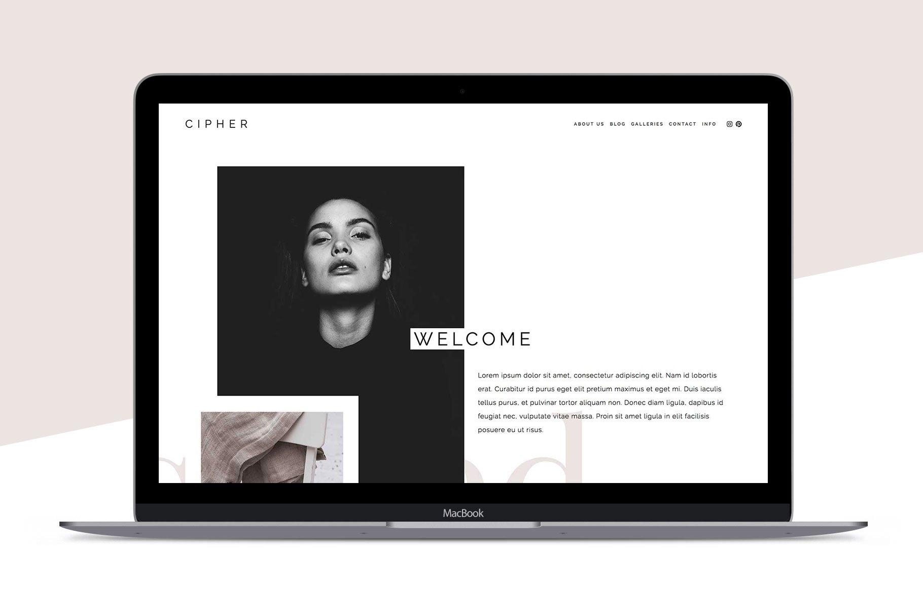 squarespace template cipher website templates. Black Bedroom Furniture Sets. Home Design Ideas