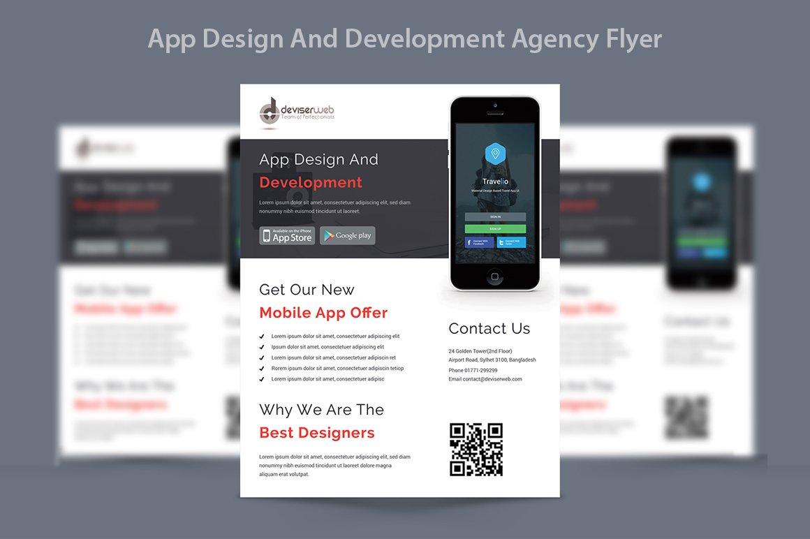 app design development agency flyer flyer templates creative market