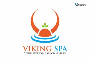 Viking Spa Logo Template