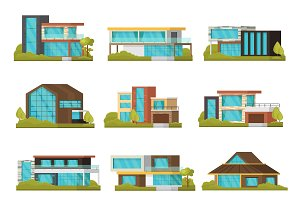 Modern Suburban Houses Collection