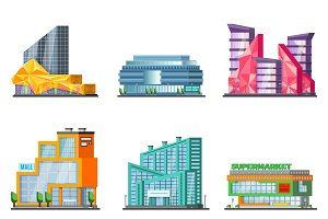 Shopping Mall Building Set