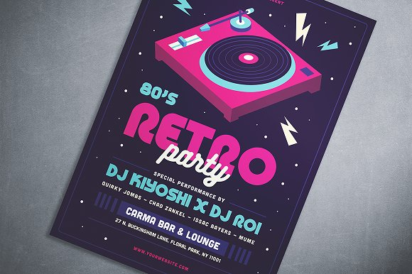80's Retro Party Flyer