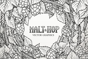 Graphic Hop & Malt
