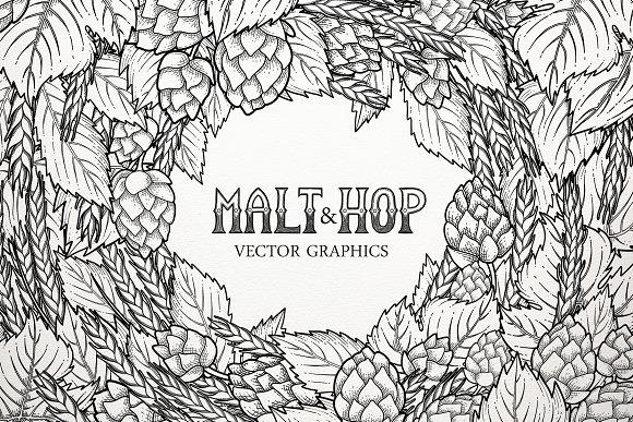 Graphic Hop Malt