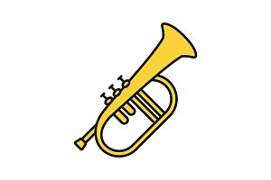 Flugelhorn color icon