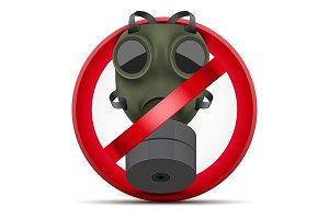Sign of Stop gas attack and chemical weapon