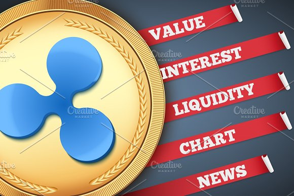 Background Of Ripple Cryptocurrency Infographic