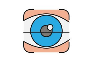 Retina scan color icon
