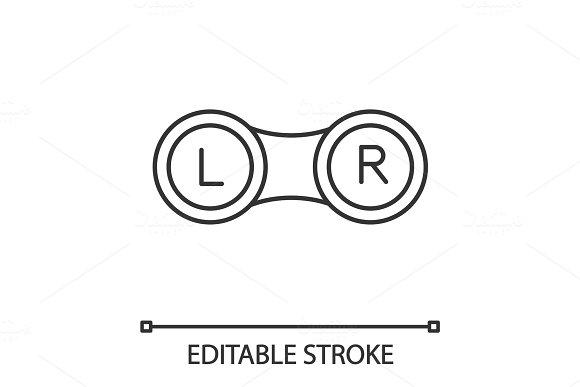 Eye Contact Lens Box Linear Icon