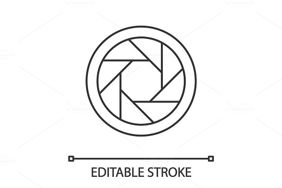 Diaphragm Linear Icon