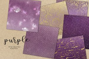 Purple & Digital Paper