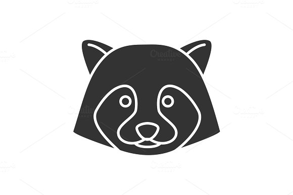 Raccoon Glyph Icon